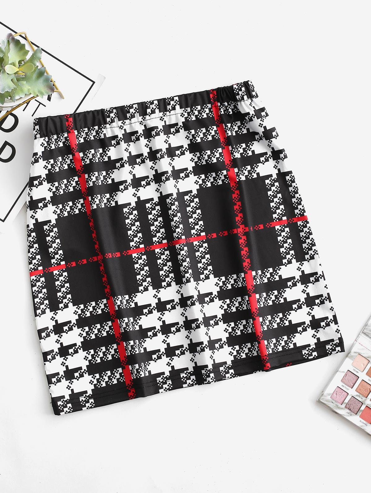 ZAFUL A Line Plaid Short Skirt