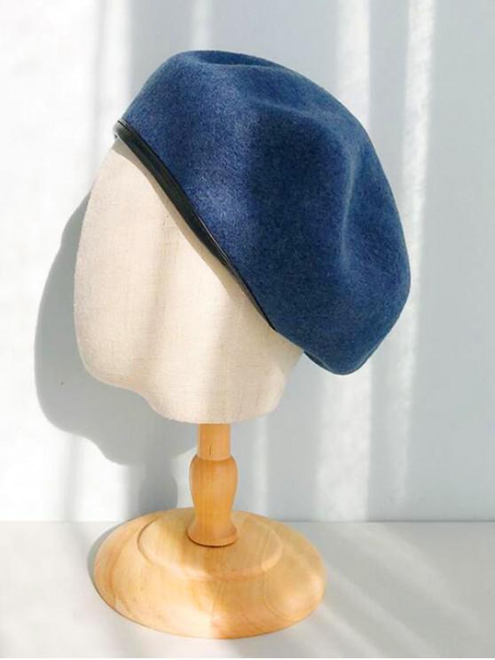 PU تنحنح خمر قبعة القبعات - أزرق