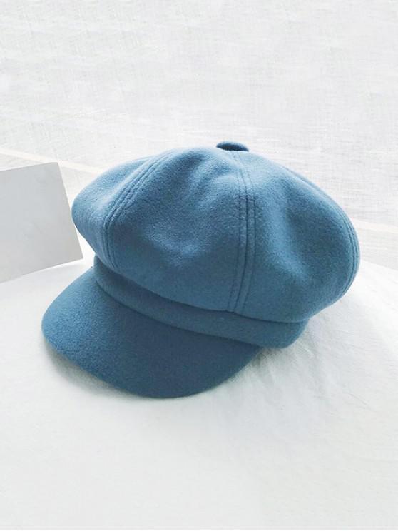 women's Retro Solid Winter Newsboy Cap - BLUE