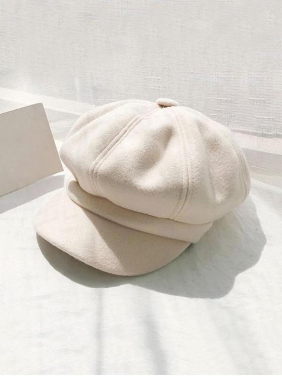 الرجعية الصلبة الشتاء موزع الصحف قبعة - اللون البيج