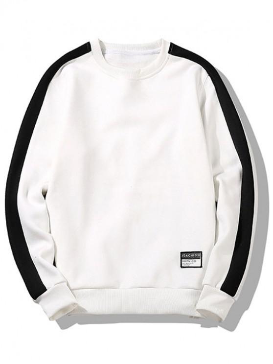 sale Two Tone Fleece Lounge Sweatshirt - WHITE S