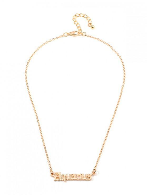 АжурноеОжерельеФормабуквы - Золотой Водолей