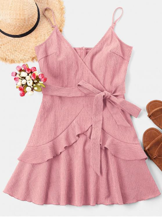 women Ruffle Mini Cami Dress - PINK M