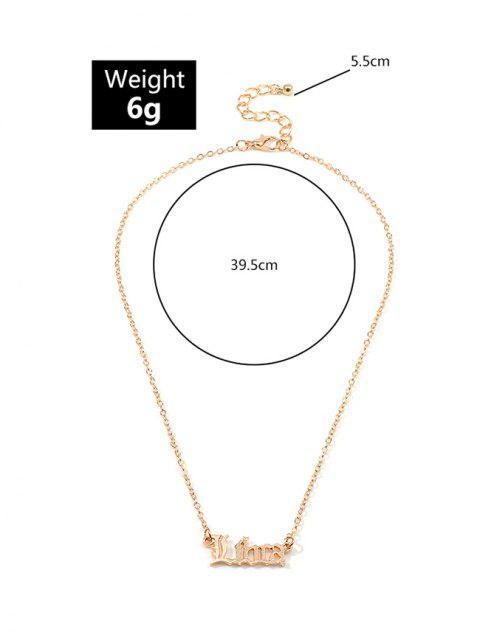 Буквы Сплав Ажурное Ожерелье - Золотой весы Mobile