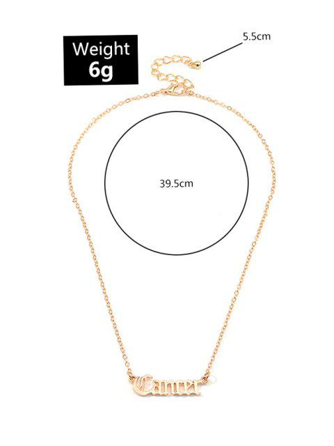 Буквы Сплав Ажурное Ожерелье - Золотой Рак Mobile