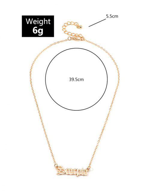 Буквы Сплав Ажурное Ожерелье - Золотой Скорпион Mobile