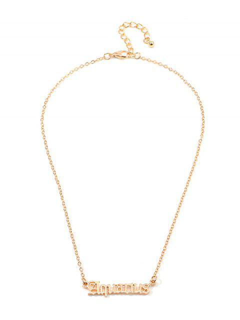 Буквы Сплав Ажурное Ожерелье - Золотой Водолей Mobile
