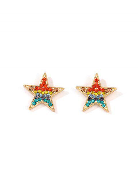 Звезда Радуга Горный хрусталь Серьги - Многоцветный  Mobile