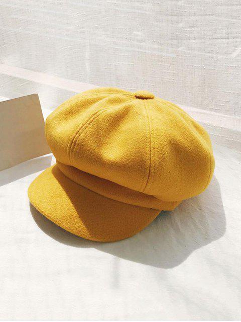 Ретро Одноцветная Зимняя Шляпа - Жёлтый  Mobile