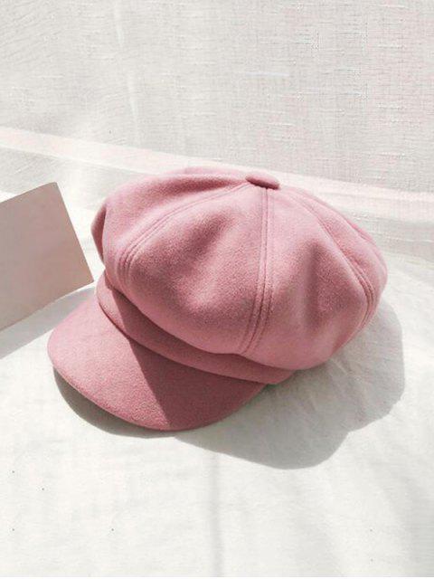 Ретро Одноцветная Зимняя Шляпа - Розовый  Mobile