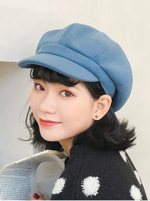 Ретро Одноцветная Зимняя Шляпа - Синий  Mobile