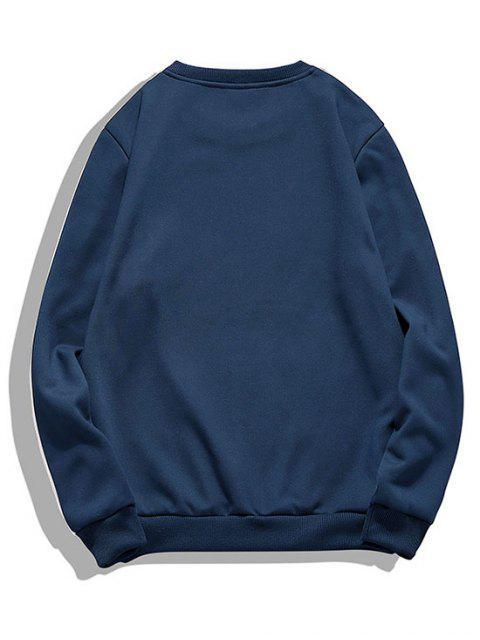 雙色羊毛套頭衫休息室 - 藏青 S Mobile