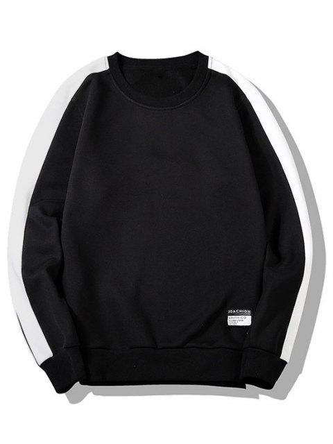 雙色羊毛套頭衫休息室 - 黑色 L Mobile