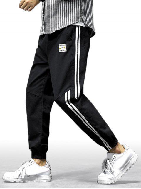 Pantalones de Jogger Casual con Estampado de Letras - Negro XS Mobile