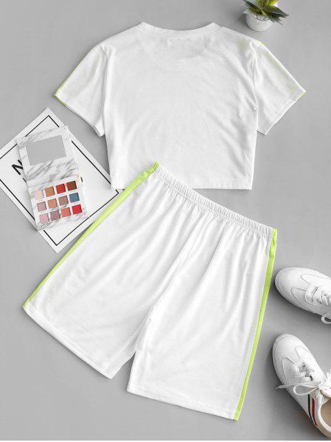 ZAFUL Set de Dos Piezas con Contraste - Blanco XL Mobile