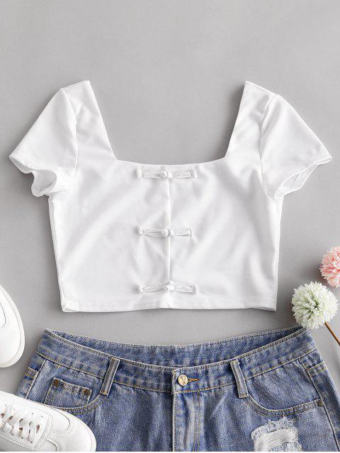 T-shirt Camisole Court Noué Chinois - Blanc M Mobile
