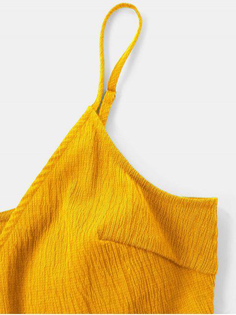 sale Ruffle Mini Cami Dress - YELLOW M Mobile
