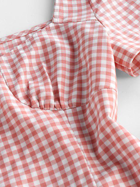 ZAFUL Mini Vestido de Moña - Rosa claro S Mobile