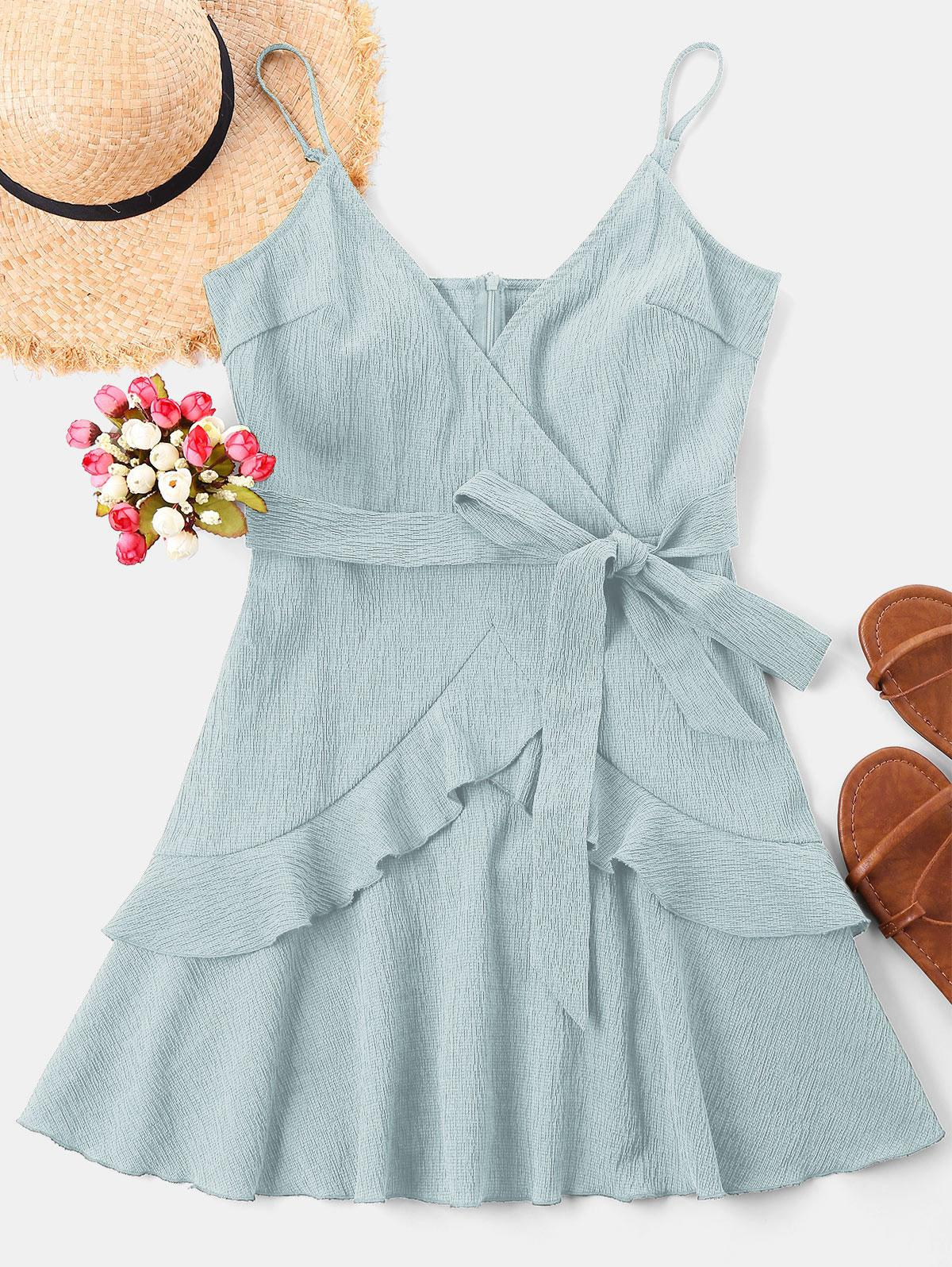 Ruffle Mini Cami Dress thumbnail