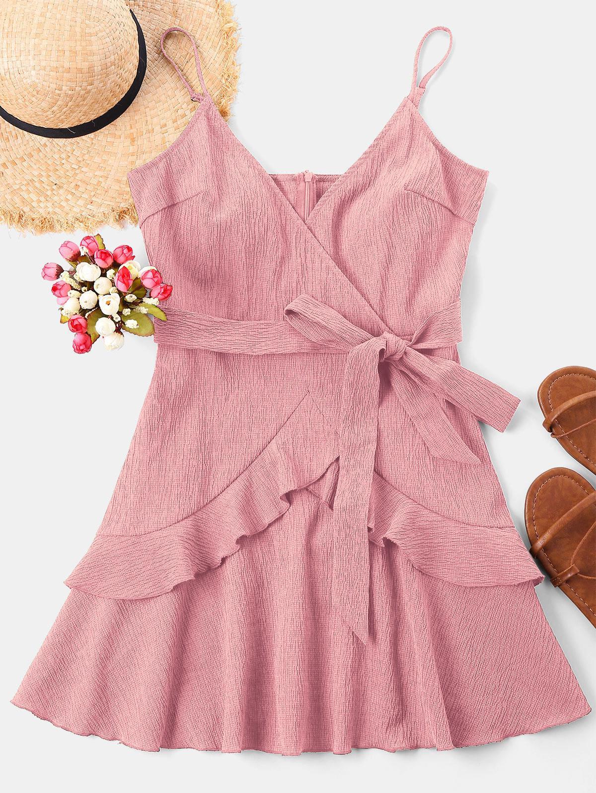 Ruffle Mini Cami Dress