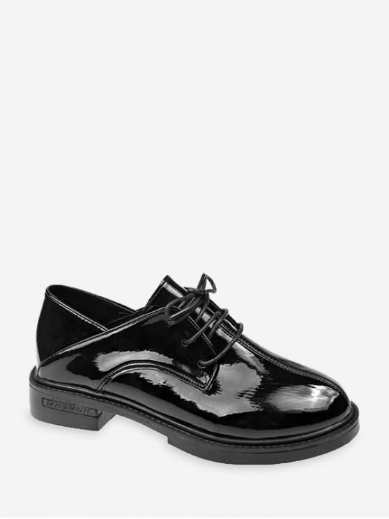普通圓頭冥衣皮鞋 - 黑色 歐盟36
