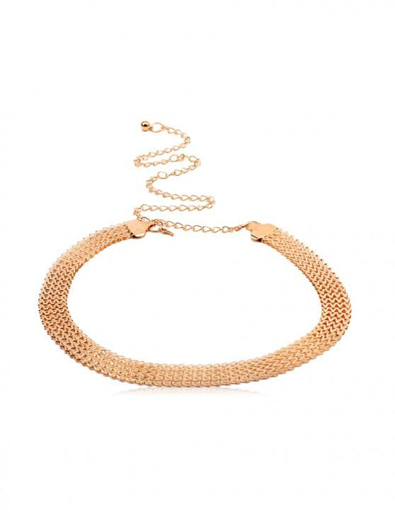 shop Brief Zigzag Metal Waist Chain - GOLD