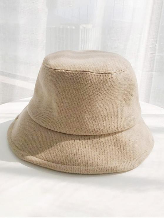 outfit Solid Cotton Winter Bucket Hat - KHAKI