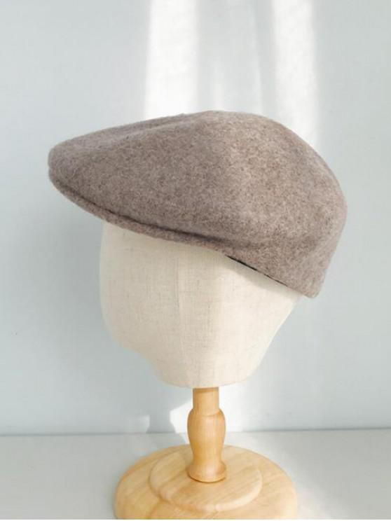 outfits Winter Solid Wool Flat Cap - KHAKI