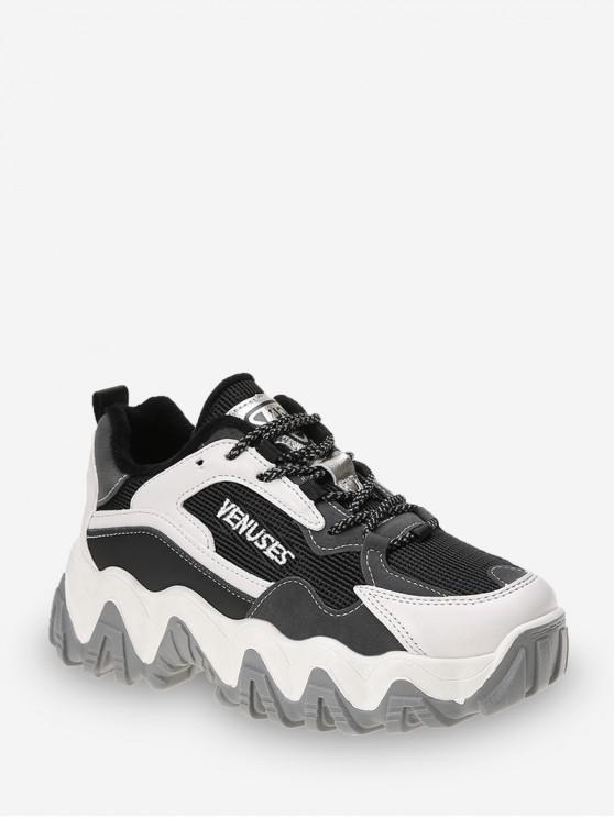 ganska cool 2018 sneakers mysig färsk Casual mistura de materiais Zigzag Plataforma Sneakers BEIGE DARK KHAKI