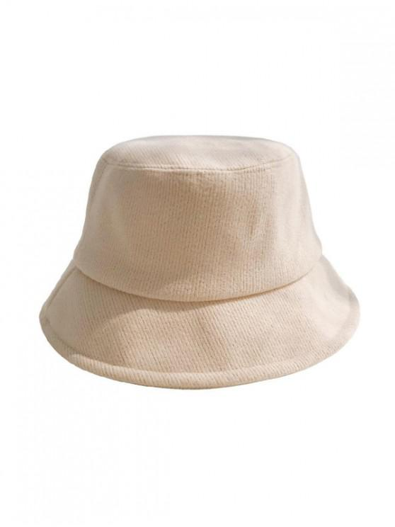 shop Solid Cotton Winter Bucket Hat - BEIGE