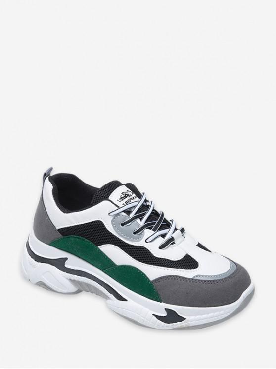 kvalitet klassisk passform billigaste Cor de bloqueio Casual Chunky Sneakers GRAY GREEN