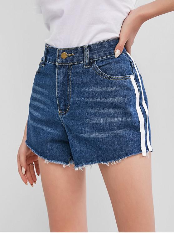 Shorts Denim Antiga com Bolso de Aba de aberto na frente - Azul Denim S