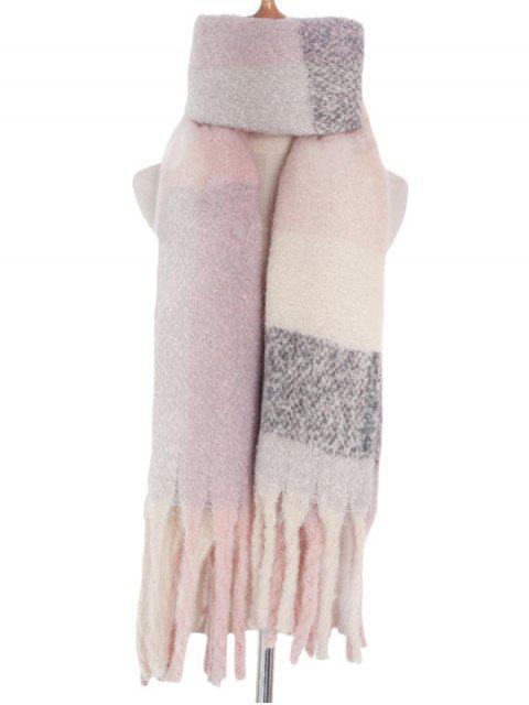Клетчатый Сплесень Шарф С бахромой - Сакура розовый  Mobile