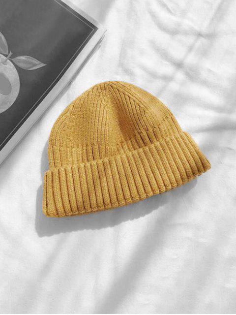 Вязаная Шляпа Отложной воротник Принт черепа - Жёлтый  Mobile