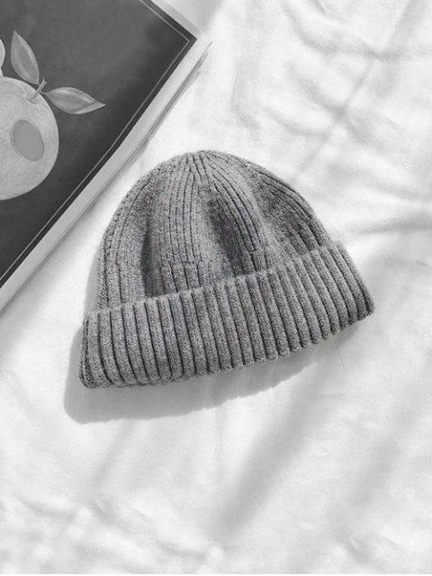 Вязаная Шляпа Отложной воротник Принт черепа - Темно-серый  Mobile