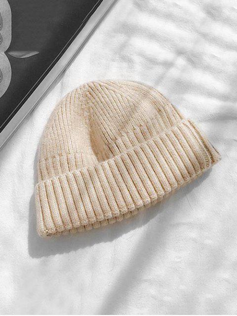 Вязаная Шляпа Отложной воротник Принт черепа - Бежевый  Mobile