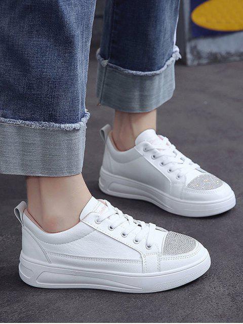 Горный хрусталь Плоские Туфли - Белый ЕС 40 Mobile