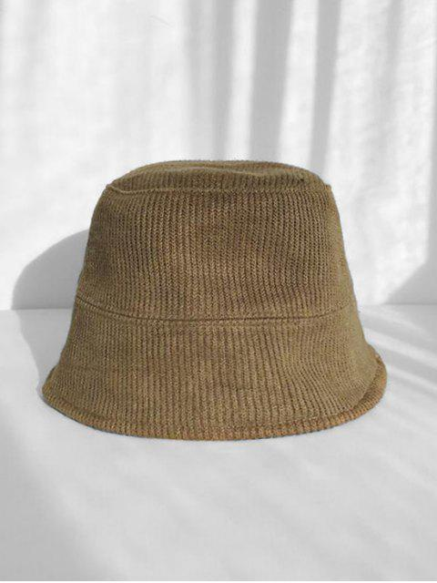 fancy Casual Solid Color Knitted Bucket Hat - ARMY GREEN  Mobile