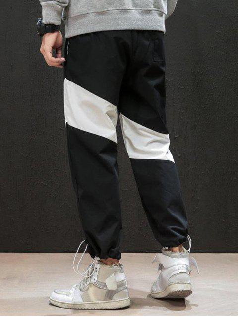 休閒字母印花高腰彈力褲慢跑者 - 黑色 XS Mobile