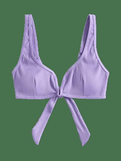 ZAFUL V-wired Textured Ribbed Bikini Top