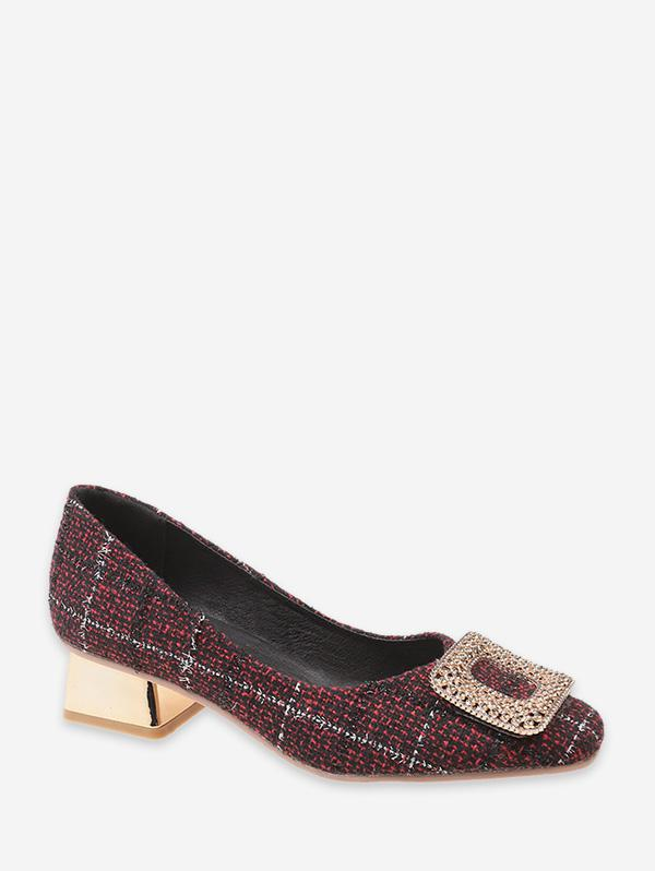 zaful Tweed Low Heel Pumps