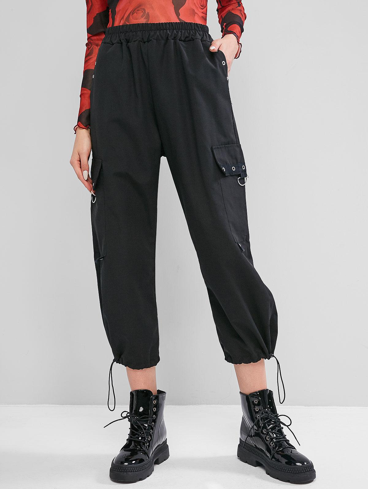 Grommet High Waisted Cargo Jogger Pants фото