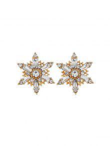 Hollow Snowflake Rhinestone Stud Earrings