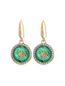 Round Star Rhinestone Earrings