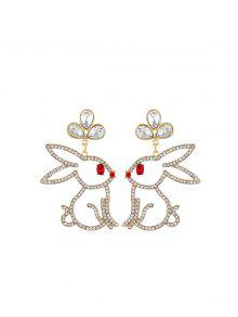 Rhinestone Rabbit Drop Earrings