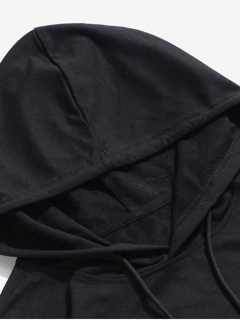 ZAFUL Sweat à Capuche Tournesol Imprimé - Noir 2XL Mobile