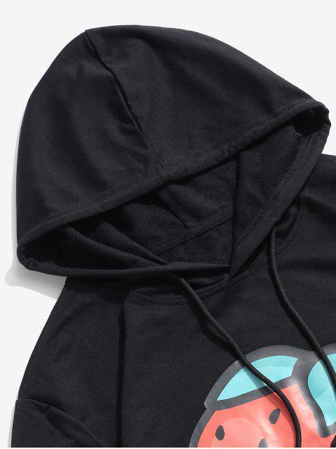 ZAFUL Sweat à Capuche Fraise Imprimée à Cordon - Noir XL Mobile