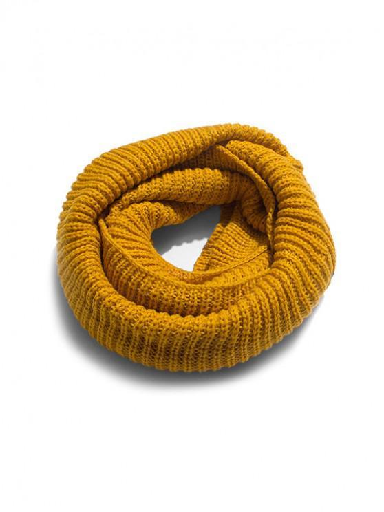 الصلبة الشتاء محبوك وشاح الرقبة - نحلة صفراء