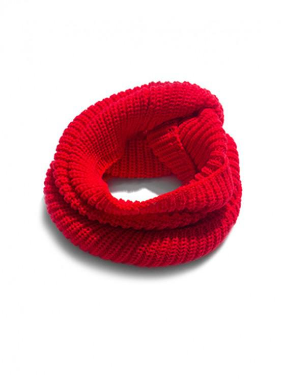 unique Solid Winter Knitted Neck Scarf - RED