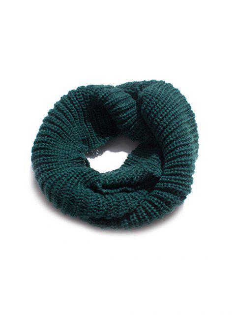 Одноцветный Зимний Вязаный Шарф - Средний морской зеленый  Mobile